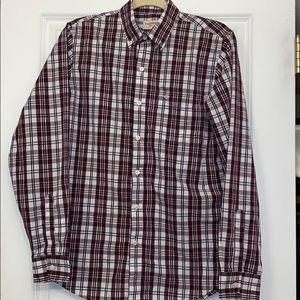 Mens Docker's size small plaid shirt